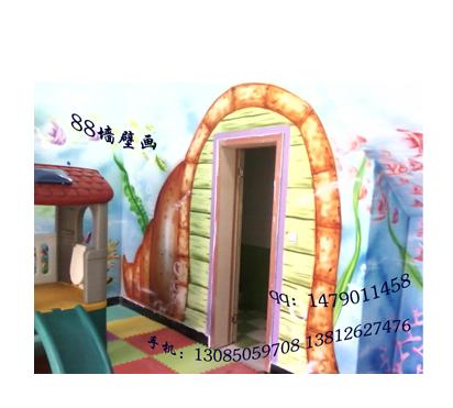 幼儿园墙壁画海底世界局部设计6