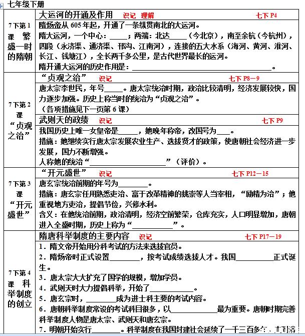 【初中历史课程标准2016】