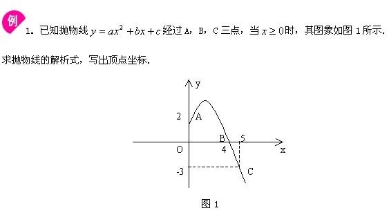 求二次函数解析式_求函数解析式