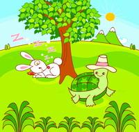 龟兔赛跑故事简笔画图片